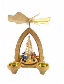 Teelichtpyramide Nussknacker