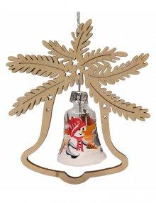 Baumbehang Glaskugel Schneemann, im Glocke