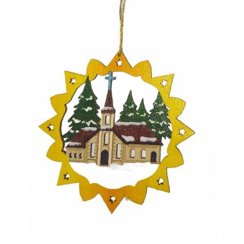 Erzgebirgischer Baumbehang Kirche, farbig