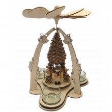 Teelichtpyramide Waldfiguren