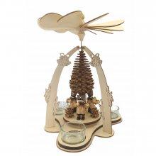 Teelichtpyramide Bergmann