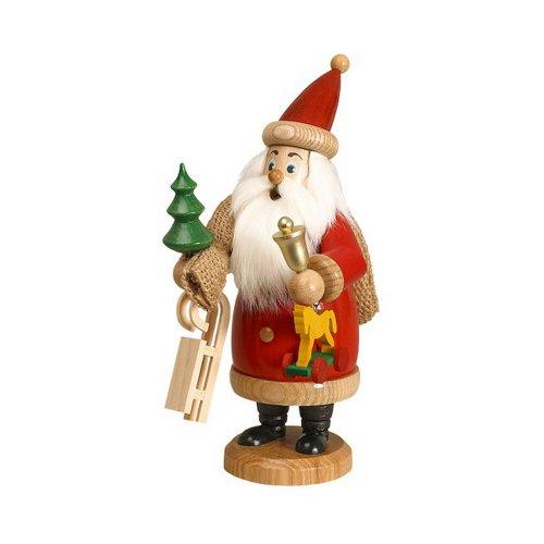 Räuchermann Weihnachtsmann rot mit Geschenken