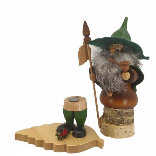 Räuchermann Baumwichtel mit Buchenblatt