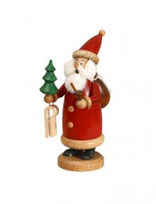 Räuchermann Weihnachtsmann rot, klein