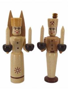 Engel und Bergmann Figuren klein, natur