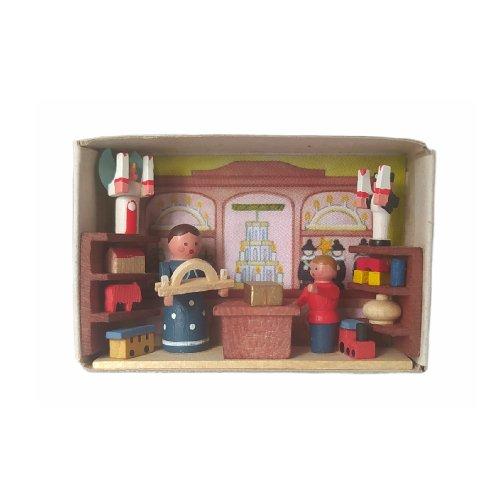 Zündholzschachtel Spielzeugladen