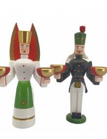 Kerzenhalter Engel und Bergmann, klein