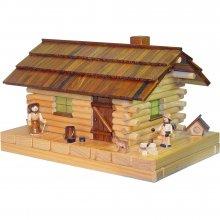 Räucher- Lichterhaus Waldhütte mit Figur