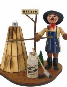 Räucherfigur Köhler mit Meiler