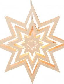 Fensterbild Stern, elektrisch