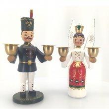 Engel und Bergmann traditionell, farbig