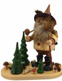 Räuchermann Waldwichtel mit Holzkiepe