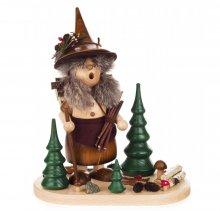 Räuchermann Waldwichtelfrau mit Holzkiepe
