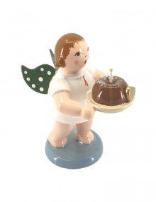 Engel mit Kuchen, ohne Krone
