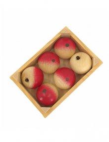 Obststiege mit 6 Äpfeln