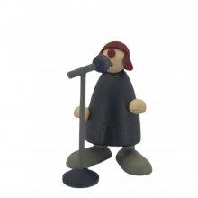 Frollein S. am Mikrofon