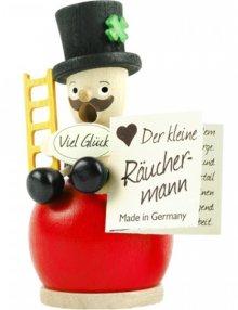 Mini-Räuchermann Schornsteinfeger, rot