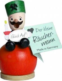 Mini-Räucherfigur Bergmann, rot