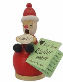 Mini-Räuchermann Weihnachtsmann, rot