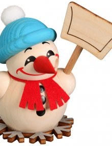 Kugelräucherfigur Cool-Man mit Schneeschippe
