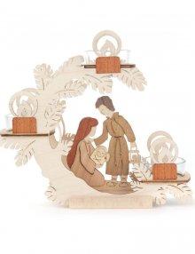 Teelichtkranz Weihnachtskrippe, Christi Geburt