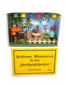 Zündholzschachtel - Gartenparty