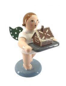 Engel mit Pfefferkuchenhaus, ohne Krone