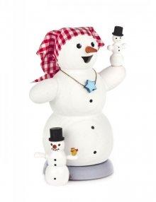 Räuchermann Schneefrau mit 2 Kindern